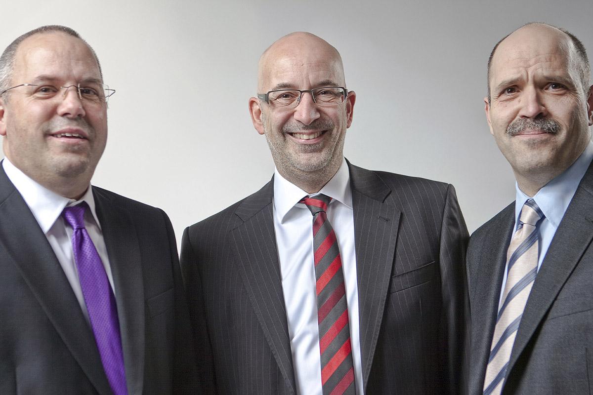 Gerald, Ralph und Georg jun.
